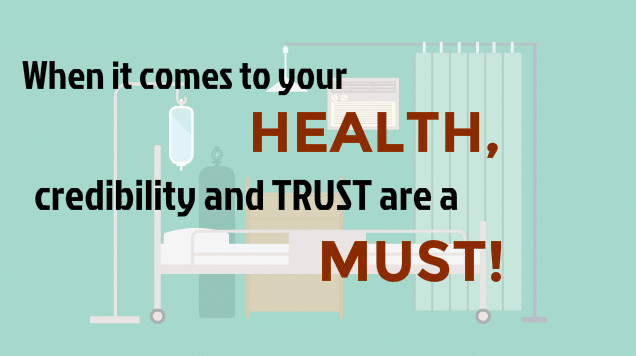2. It's Your Health...You Need Reliable Information.
